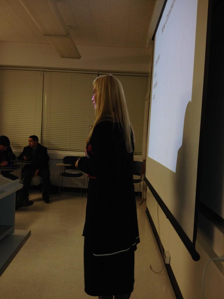 Carole teaching at SFSU