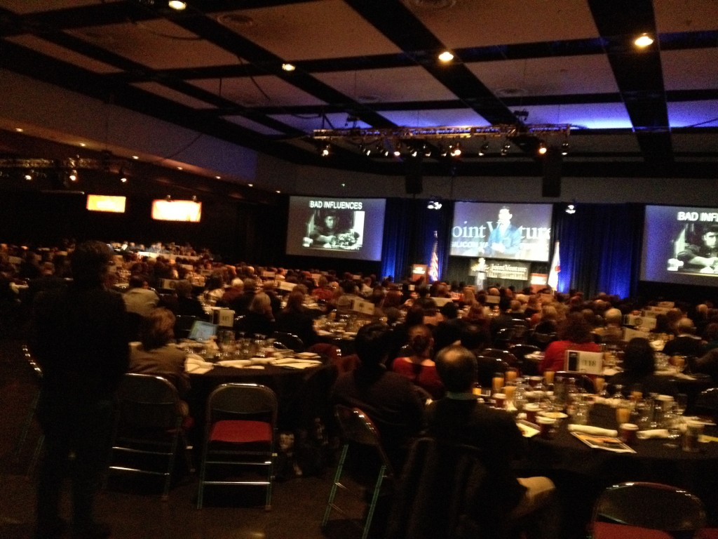 Speaking to thousands of leaders at Santa Clara Convention Center