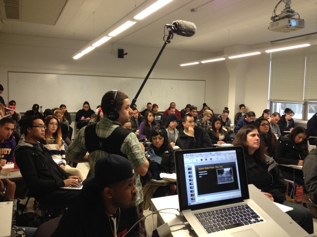 PBS capturing Sound as I lecture at SFSU